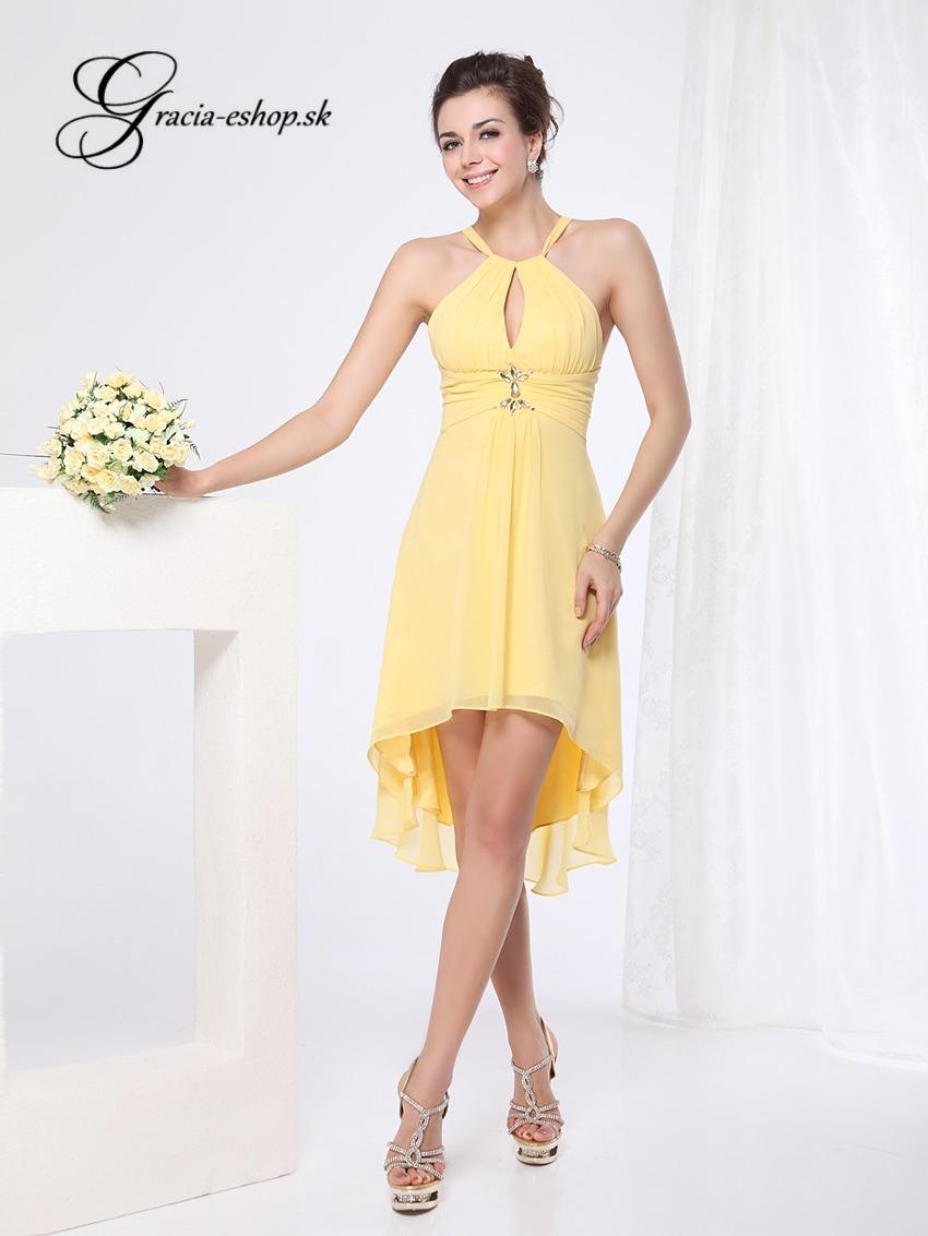 1d0450e01d4 Spoločenské šaty model 3643 žltá - XS