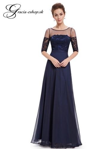 Spoločenské šaty model 8459 - tmavo modrá  57ef3d1da00