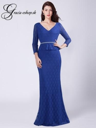 6c6a20fa6140 Modré čipkované šaty s rukávmi model 7697 - L