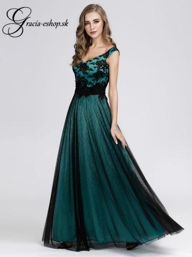 ce635dc6ea7f Tylové večerné šaty na ramienka model 7912