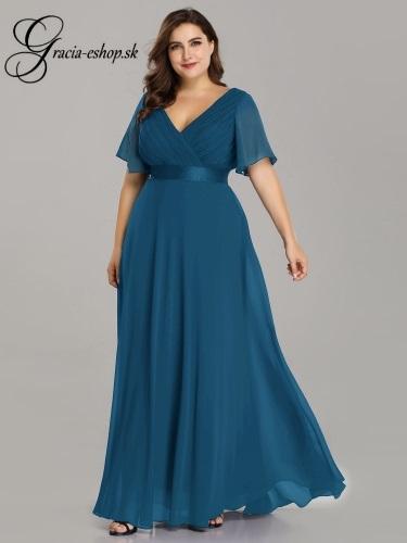e737ae08d21b Elegantné spoločenské šaty s padavými rukávmi model 9890