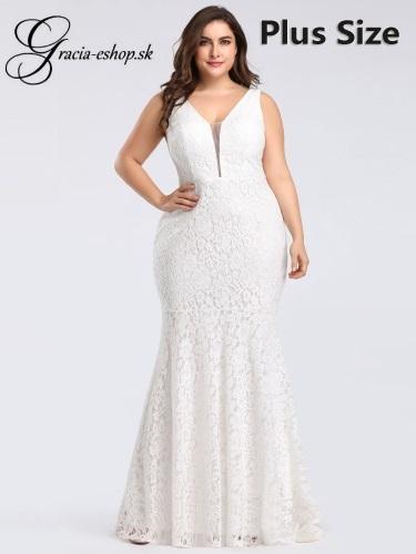 38c530baa9e3 Biele priliehavé spoločenské šaty model 8838