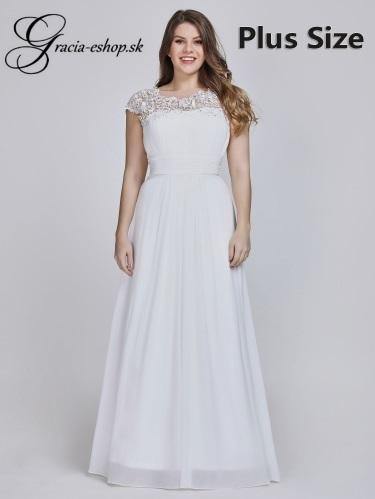 6a31f10036a4 Biele spoločenské šaty pre moletky