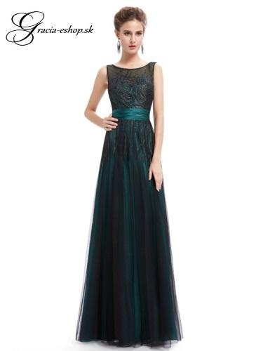 Spoločenské šaty model 8740 - tm. tyrkysová  b77ce97682c
