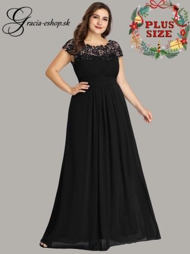 80a8f44ab6c2 Čierne dlhé spoločenské šaty model 9993