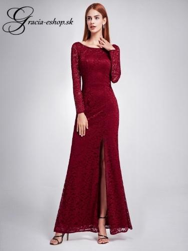148e85dc5cb2 Spoločenské šaty model 8883 bordová - S