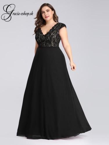 3b1519a0b Čierne spoločenské šaty s hrubšími ramienkami model 7344