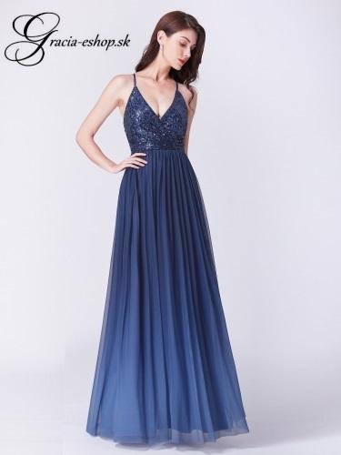cf59f3787d4c Tmavo modré večerné šaty model 7468
