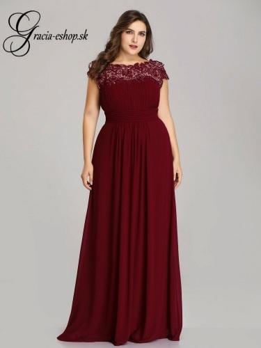 ef662065f585 Bordové spoločenské šaty na ples model 9993