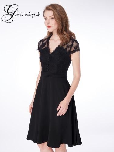 39ee7e6ec279 Čierne čipkované šaty model 4032 - S