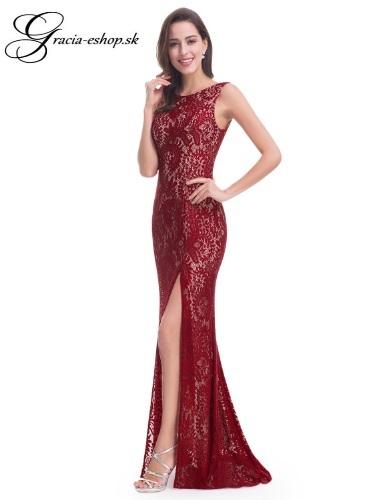 3334aa249 Spoločenské šaty model 8859 - bordová | Svadobné šaty, spoločenské ...