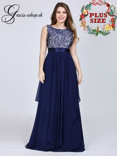 85400937db16 Dlhé večerné šaty s čipkovaným topom model 8217
