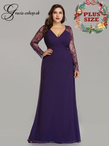 234ff52e39a4 Spoločenské šaty s čipkovanými rukávmi model 8692