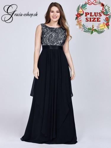 55b4d8cab639 Čierne spoločenské šaty s lodičkovým strihom model 8217
