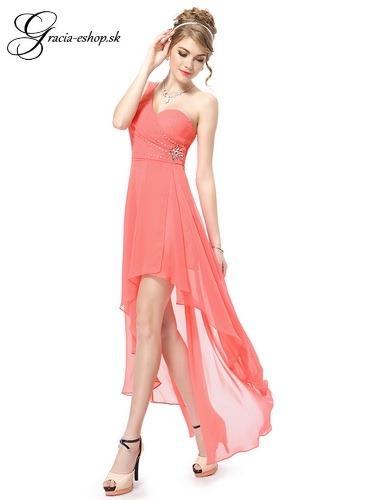 cf9efc11db6f Spoločenské šaty model 8100 lososová - XS