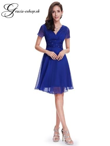 dbb8b69ad526 Spoločenské šaty model 3882 modrá - S