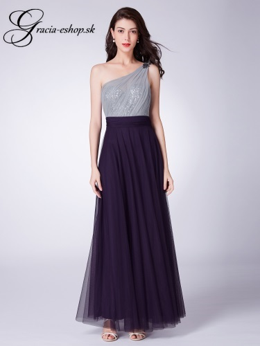 fbd02380f61b Večerné tylové šaty model 7404 - fialová