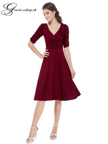 3bc57efb8ea1 Spoločenské šaty model 3632 bordová - S