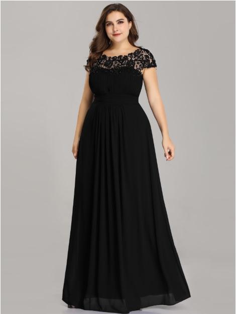 5be4fd1cda7a Spoločenské šaty model 9993 čierna - XL