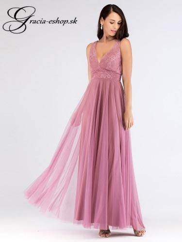 052f8626cf37 Tylové šaty s hlbším výstrihom model 7503