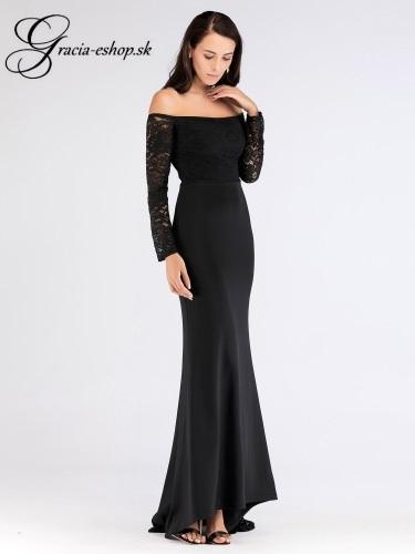 4b3dfa69a3a7 Čierne elegantné spoločenské šaty model 7611