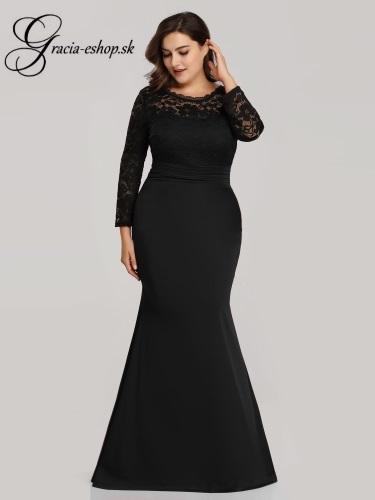 1ff7c6f29f2a Čierne elastické spoločenské šaty pre moletky