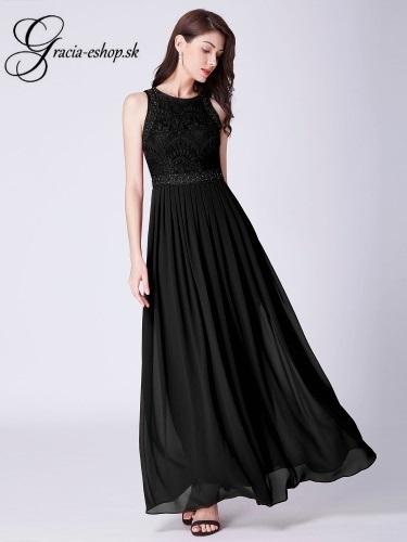 Čierne plesové šaty so skladanou sukňou model 7391  79e39539ef7