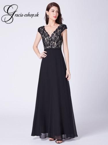 0fa892e45 Čierne spoločenské šaty na ramienka model 7344   Svadobné šaty ...