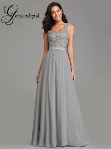 ad304b1c6 Dlhé spoločenské šaty na ramienka model 7704 | Svadobné šaty ...