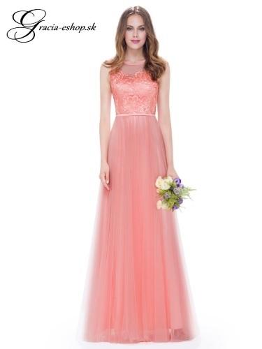 Dlhé tylové šaty s krajkovým topom model 8933 - L  3250726ce0e