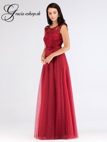 89c28704e7ba Tylové spoločenské šaty s krajkou model 7609 - XS