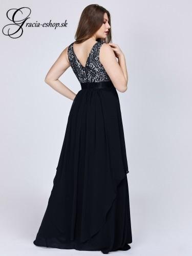 d5625fd8589a Čierne plesové šaty pre plnoštíhle