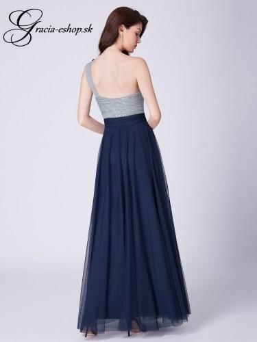 ca5aeae98a8b Tylové spoločenské šaty model 7404 - tmavo modá