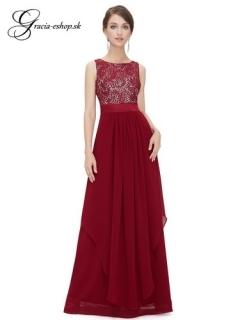 Spoločenské šaty model 8217 bordová - XXL empty 342673367e5
