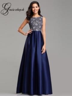 Spoločenské šaty so saténovou sukňou model 7758 empty 877f63b52f1