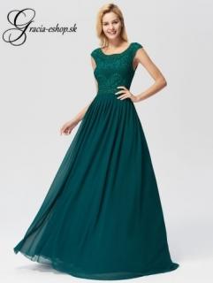 Zelené spoločenské šaty s krajkovým topom model 7755 empty 8450da9fd02