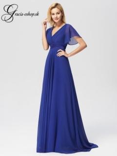4b93e41ab128 Modré večerné šaty s padavými rukávmi model 9890 - XL empty