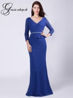 4de9bca8f79a Modré čipkované šaty s rukávmi model 7697 - L empty