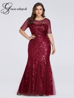 b0599cd6205c Priliehavé spoločenské šaty s listovanou čipkou model 7707 - XXL empty