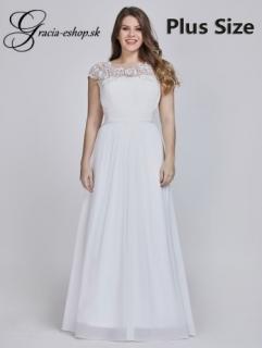 843fbad50197 Biele spoločenské šaty model 9993 empty