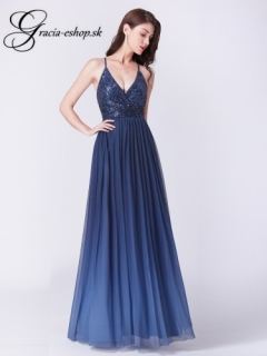 2d2623127cbe Tmavo modré večerné šaty model 7468 empty