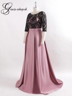 b147a688c6b1 Ružové spoločenské šaty so skladanou sukňou model 7866 - M empty