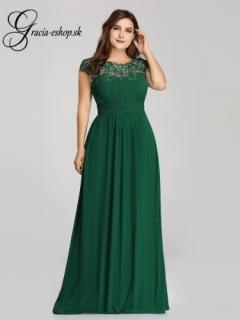 Zelené večerné šaty s krajkovým topom model 9993 - 5XL empty a267c3e4ba2