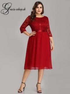 5ebf08cbe73b Krátke červené šaty s krajkovým topom model 7641 empty