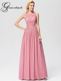 8bf20fe3bb4b Ružové spoločenské šaty s čipkou model 7391 empty