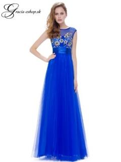 dc4556353b99 Modré tylové šaty model 8899 - XS empty