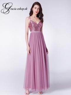e2f26dc75a55 Dlhé tylové šaty s tenkými ramienkami model 7392 - XS
