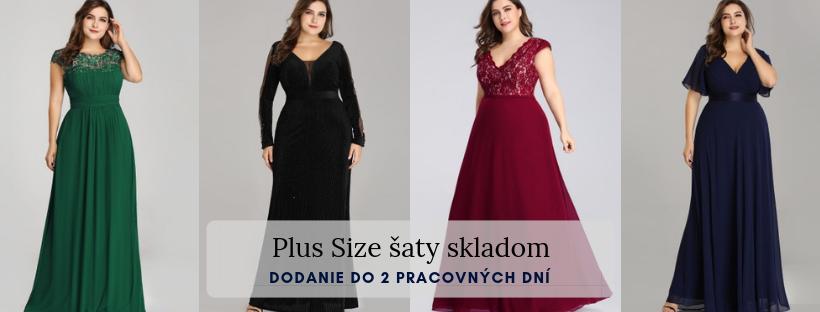 06af790c53b7 Spoločenské šaty nadmerné veľkosti